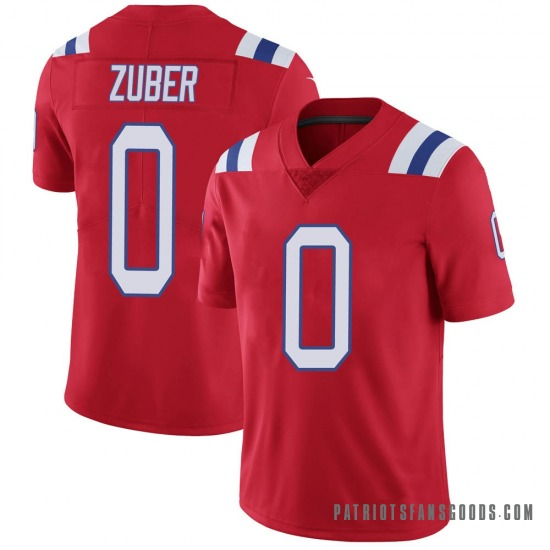 Isaiah Zuber New England Patriots No.0 Limited Vapor Untouchable Alternate Jersey - Red